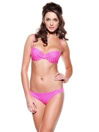 Pleated bandeau pink spot