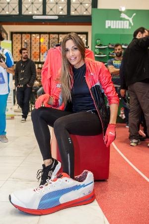 Eleni Petroulaki_PUMA Stand_Marathon Expo 2012